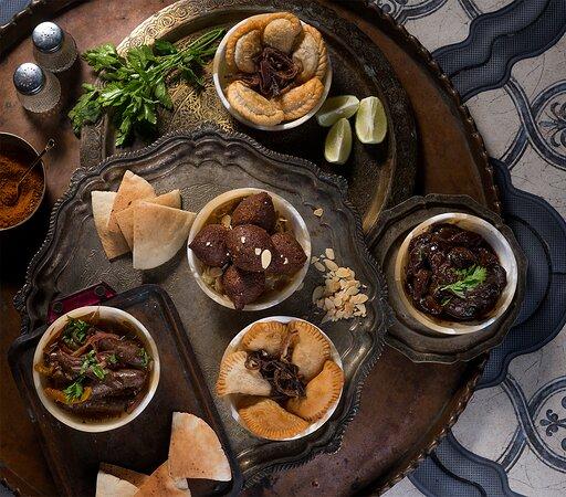 Hot appetizers at Bab Al Qasr