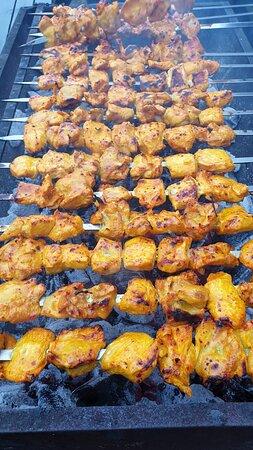 Lekkere kip gebarbecued op z'n Perzisch