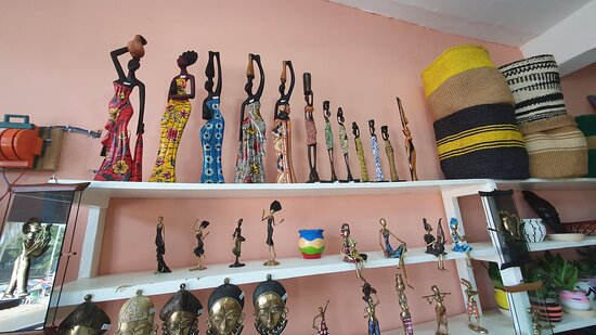 Woodcarvings, baskets, wall hangings are all available at our gift shop