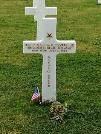 Croix de theodore roosevelt junior , fils aîné du président des États-Unis Theodore Roosevelt
