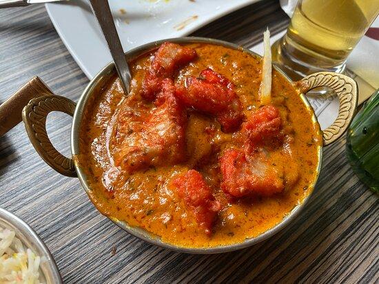 Hauptgericht !!! Fisch Curry mit Reis - für 18,90 € geschmacklich besser aber viel zu wenig Fisch