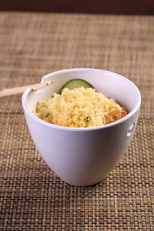 Kani SaladCrab, carrot & cucumber with Japanese mayo & tempura flakes