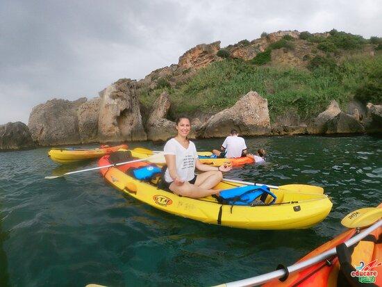 Percorso Kayak Scogliere di Nerja e Maro - Cascada de Maro + Snorkel: Aguas cristalinas entre los acantilados de Nerja y Maro