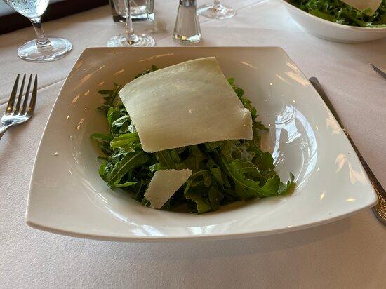 Arugula Salad with shaved (?) parmigiana  at Davio's Seaport, Boston