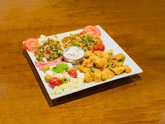 Assiette Chiche Taouk (chicken plate)