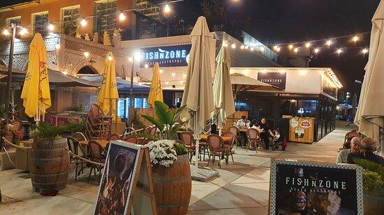 FishNzone sea food Restaurant. At the sea side in Ashdod Miami Beach