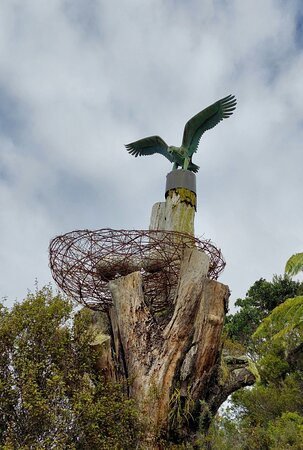 Sculpture near Helena Bay Gallery and Cafe, half an hour drive from Whangarei on the Russell Road.