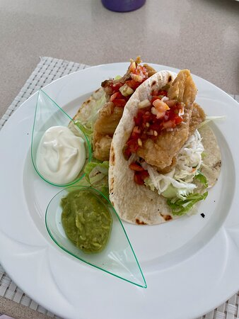 Fish tacos from the grill. One thing I noticed is that the fish at CTI was often fried, while at CSA it is often grilled.