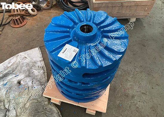 Китай: Tobee 4 Vanes WRT1 Impeller E4145WRT1A05 with WRT1 Throat bush E4083WRT1A05 are the best combination of the 6/4D-AH Centrifugal Slurry Pump Email: Sales7@tobeepump.com Web: www.tobeepump.com   www.slurrypumpsupply.com   www.tobee.store   www.tobee.cc