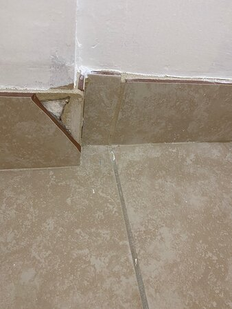 One of the cracked tiles