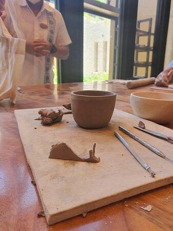 Pottery workshop at Casa Piramide