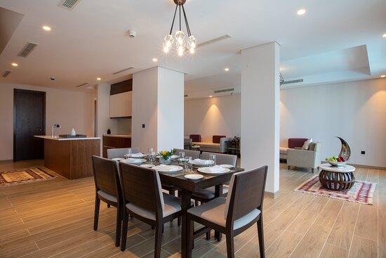 Millennium Resort Salalah Four Bedroom Villa Dining Area