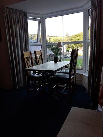 Attractive bay window seat on first floor