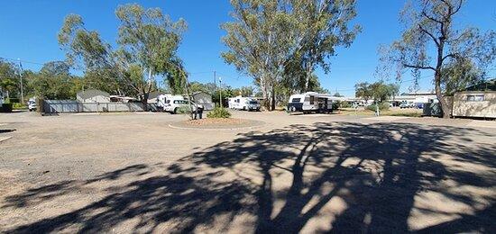 Dusty caravan park