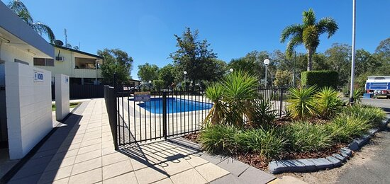 Pool outside the Amenities