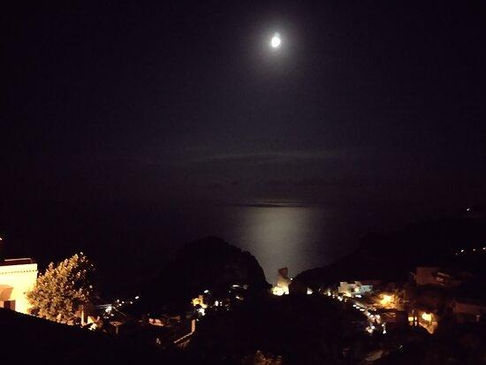 Panorama serale dal terrazzo