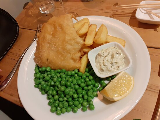 Cod and Chips - with specailly ordered crispy batter (wasn't crispy enough)