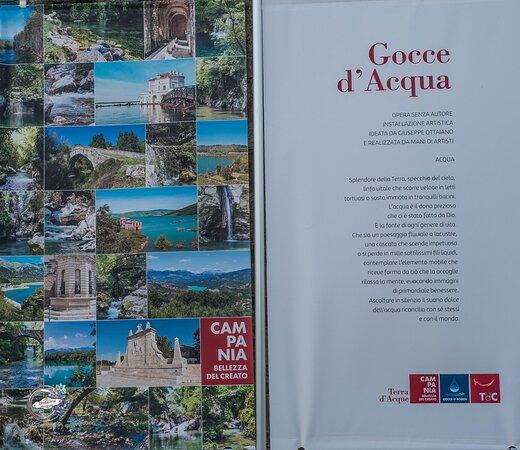 Savignano Irpino - Castello Guevara - locandina dell'evento  <GOCCE D'ACQUA >mostra artistica modulare