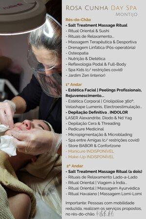 Profissionalismo, conforto e privacidade, equipamentos próprios e cosmética profissional, aliado a uma equipa de profissionais, focados em prestar serviços de excelência. Consulte-nos através do 913895112 ou 966366690. #DaySpaMontijo #spamontijo #Skincare #BodyCare #Massagem #massagemcasal #voucher #presente #facialcare #depilaçãolaser