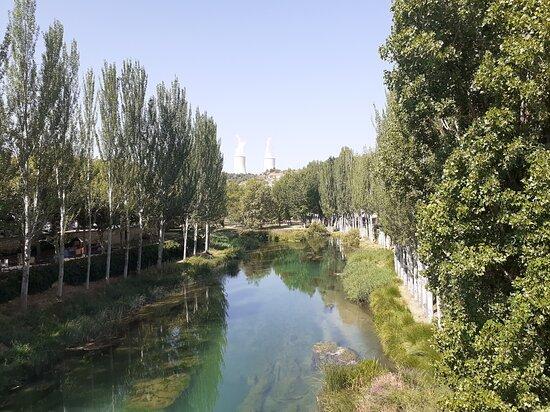 Desde el puente donde el río Cifuentes se une al Tajo.