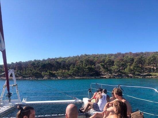 Full-Day Catamaran Cruise to Hvar & Pakleni Islands with Food and free Drinks: Catamaran