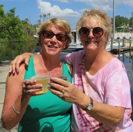 Deb & Janis...a toast for The Freezer