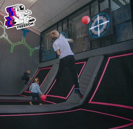 Freedom offers, a 50 metre long Adrenaline Pumping Hi-Line Indoor Rope's Course, with Multiple Climbing Walls, Customized Trampoline Dodgeball Arena, specially designed for kids, a 1st for South Africa Dodge Attack, Hi-Dive Leap of Faith, Foam Pit, Nerf Wars (on selected days) - or explore our first of a kind, Custom Built Play Pods with architectural design elements added to create an environment that is fun, cool and contemporary.