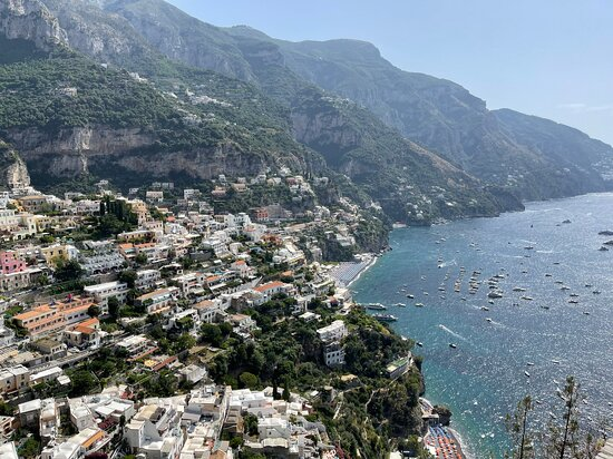 Short stop on the way back to Naples from Amalfi, overlooking Positano.