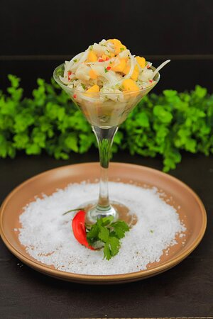 Ceviche Peruano (Peixe branco)