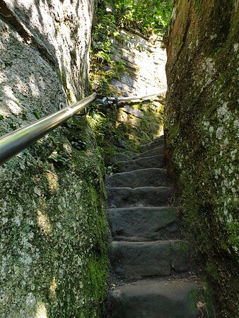 few steps at the beginning of your hike