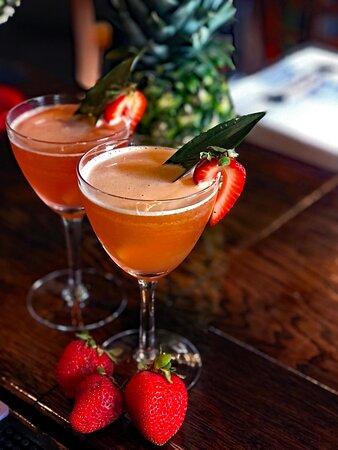 Fresh strawberry tiki