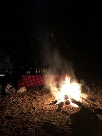 Gin tonyc near the fire
