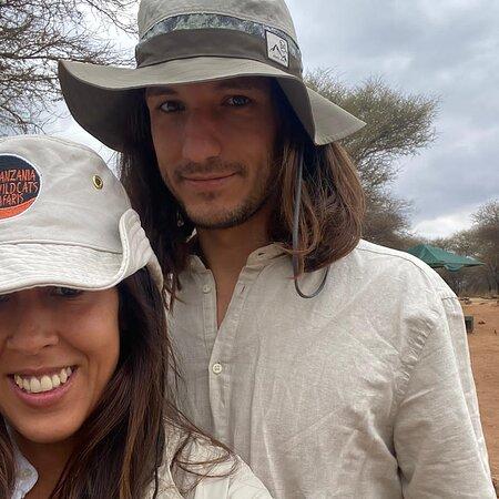 Tarangire  National park Tanzania Happy clients from Spain , enjoying  game drives