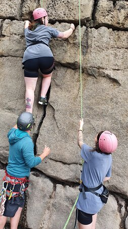 Brilliant day rock climbing