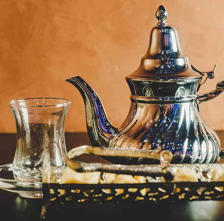 Come enjoy our authentic Moroccan Green Tea, imported tea straight from Morocco to you