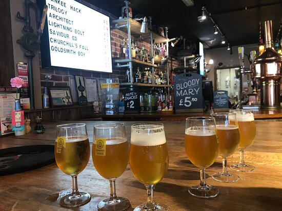 Tasting the local beers