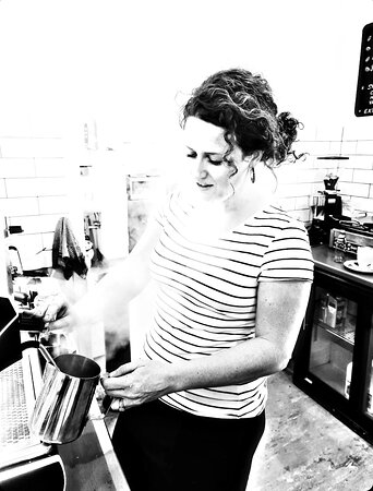 Experienced Barista's only on our coffee machine! We use quality Fish River Roasters Hub Blend beans.