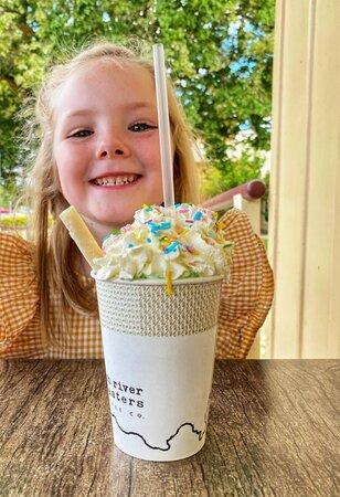 Kids Unicorn Milkshakes are a real treat!