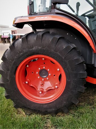 The tractor exhibit: detail. August 2021