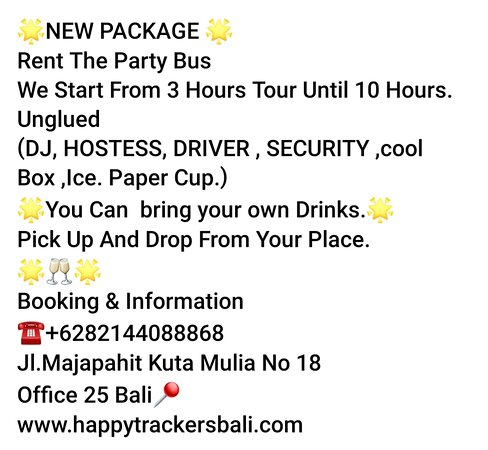 New package  Rent the party bus