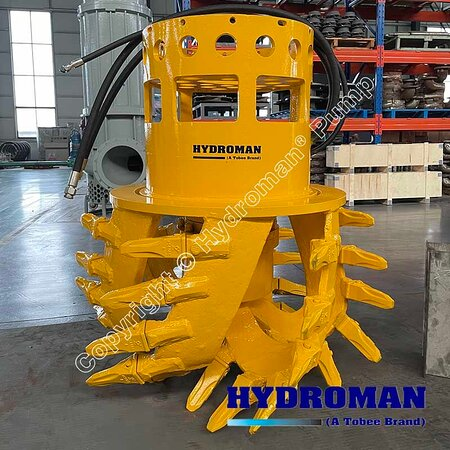 Китай: Hydroman MixPro™ Hydraulic Cutter head will install on the Dragflow dredge pumps that used for handle difficult sludge #dragflowpump Email: Sales7@tobeepump.com Web: www.tobeepump.com   www.slurrypumpsupply.com   www.tobee.store   www.tobee.cc   www.hydroman.cn