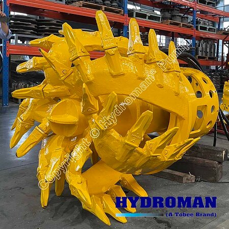 China: Hydroman MixPro™ Hydraulic Cutter head will install on the Dragflow dredge pumps that used for handle difficult sludge #dragflowpump Email: Sales7@tobeepump.com Web: www.tobeepump.com | www.slurrypumpsupply.com | www.tobee.store | www.tobee.cc | www.hydroman.cn
