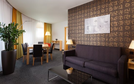 Our suite has a large living room and separate bedroom