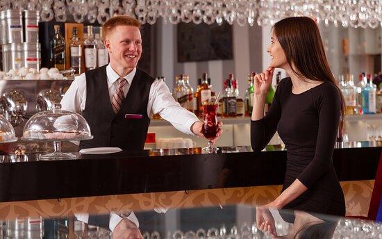 Choose your favorite drink at Russian Standard Signature Bar