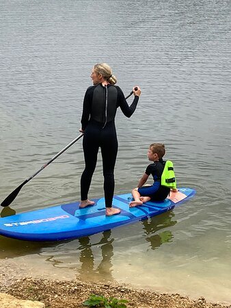 Paddle boarding for all ages.