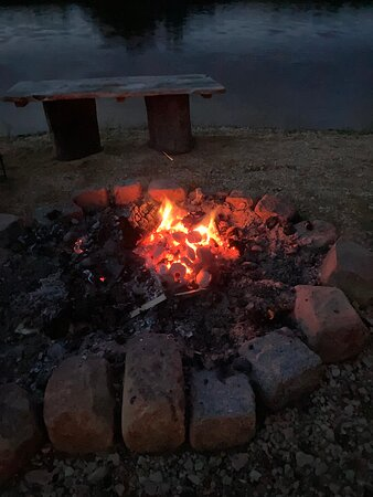 The fire pit.