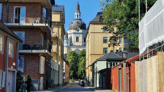 The street and Katarina Church