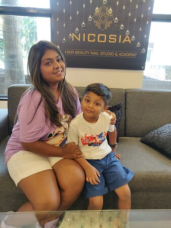 Our customer Nikita visited NICOSIA with her intelligent 5-year-old who gave us some knowledge about planets and also told us why Pluto is no more a planet. 😅 while his mother outer for hair & skin treatments.  Thank ma'am for visiting us.   NICOSIA HAIR BEAUTY NAIL STUDIO & ACADEMY  LUXURY FOR YOUR SOUL!      #spaingoa #hairsaloningoa #bestsaloningoa #bestnailsaloningoa #bestbeautyparlouringoa #nailart #hygienicsalon #blowdry #keratintreatment #nailextensionsingoa #unisexsaloningoa #footreflex