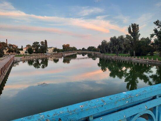 Kropyvnytskyi, Ucraina: Река Ингул, вечер
