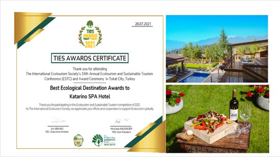 Katarino SPA Hotel was awarded with a prestigious international award The best eco-destination.